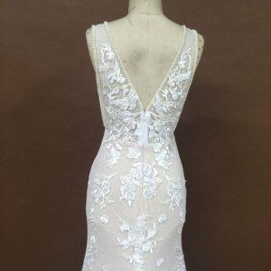 Style #051117SUn - open v-back wedding gown from darius cordell