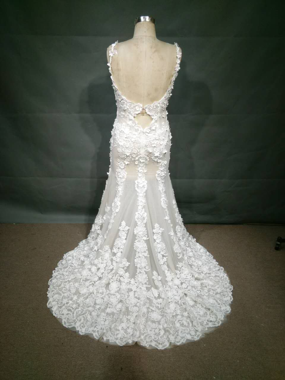 Sleeveless plus size wedding gown inspired by haute for Haute couture price range