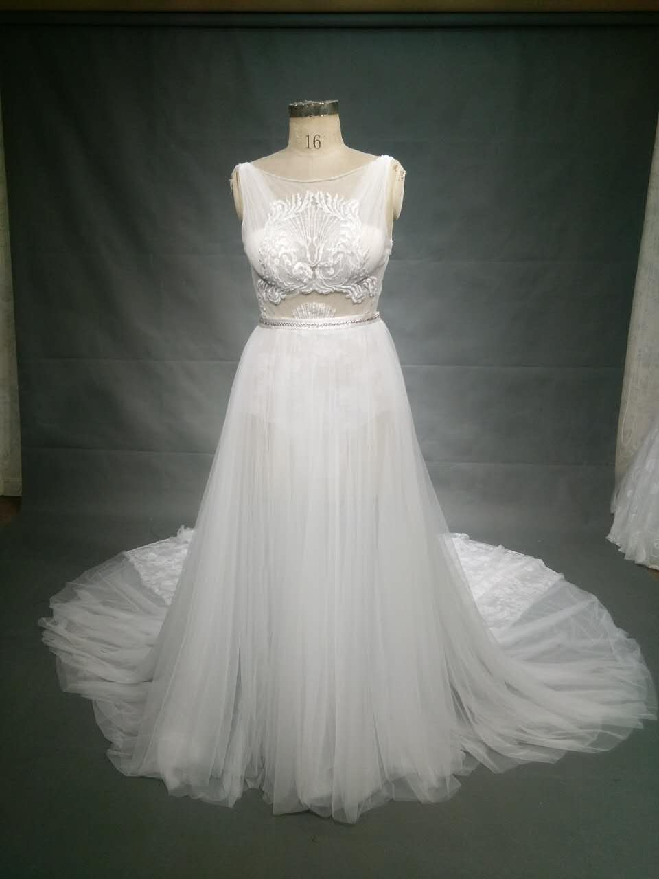 Plus Size replica of a haute couture wedding dress by Darius Bridal