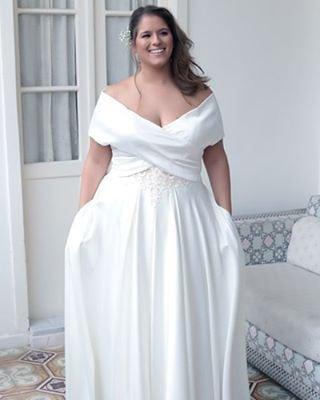 4e6f Off The Shoulder Plus Size Wedding Dresses