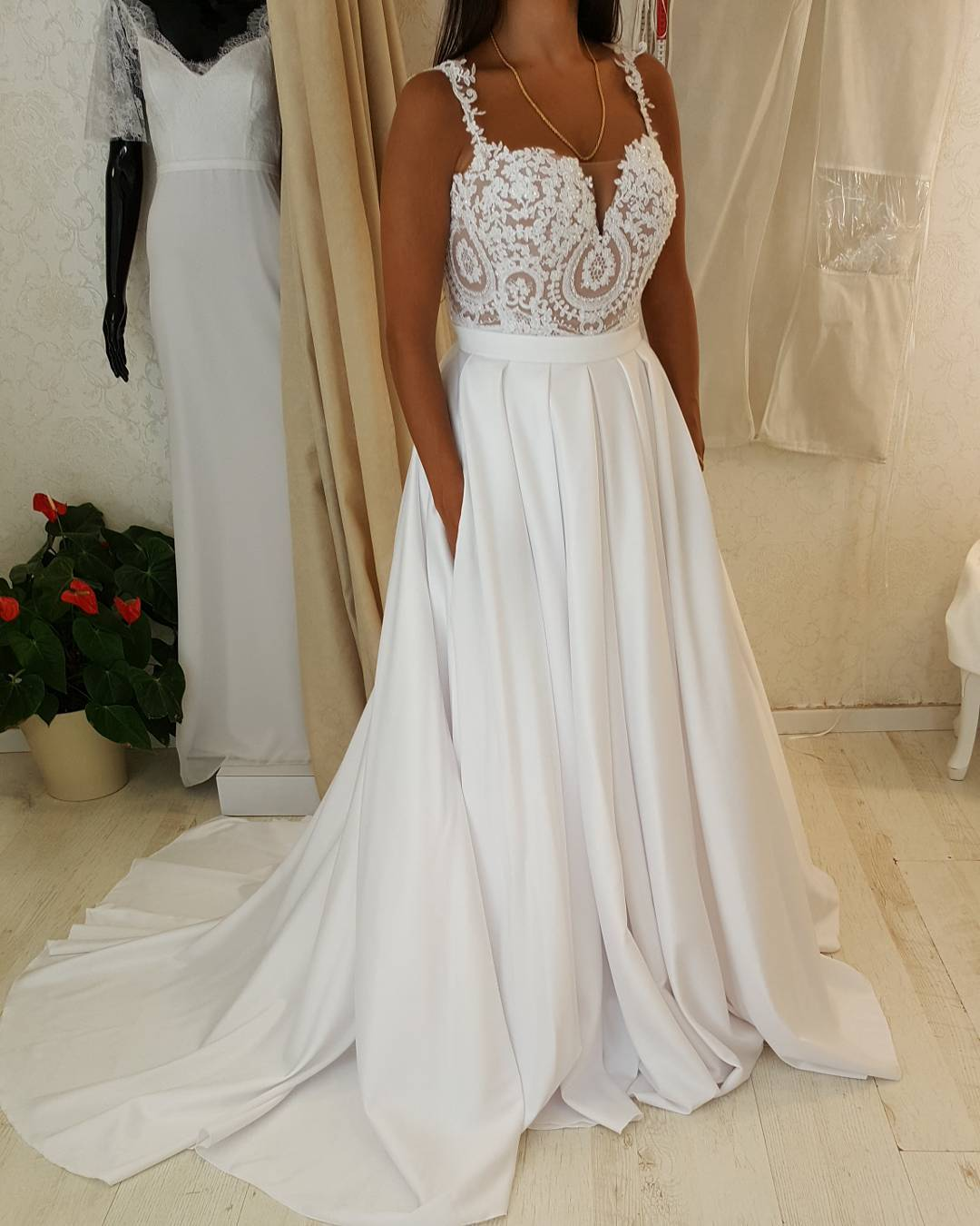 Custom Plus Size Wedding Dresses With Empire Waist
