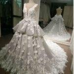 LK1203 - 3D handmade flowers on couture wedding dress from Darius Cordell Bridal
