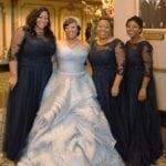 Silver plus size wedding dresses from the Darius Collection