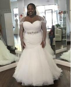 Strapless plus size bridal dresses made to order from Darius Bridal
