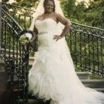 plus size fit-and-flare wedding gown sith strapless neckline from Darius Bridal