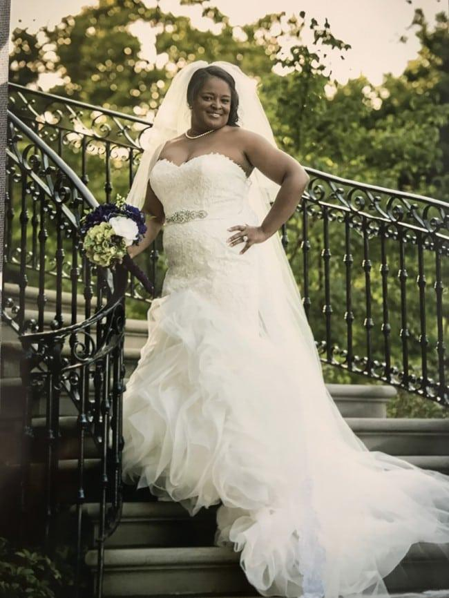Plus Size Fit And Flare Wedding Gown Sith Strapless Neckline From Darius Bridal