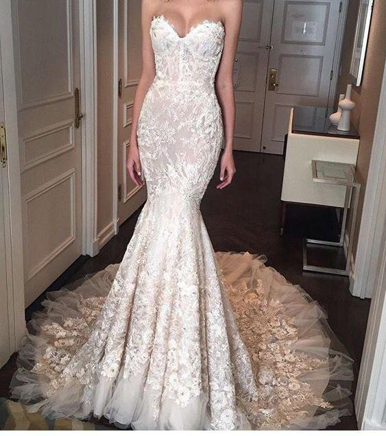 Berta Bridal inspired custom wedding gown from the Darius Collection