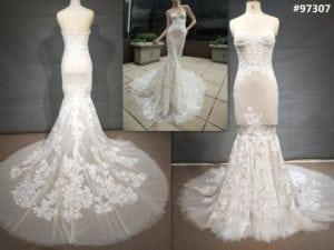#97307 Replicas of sexy stretch fabric wedding dresses from Darius Cordell