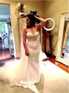 strapless wedding gown with embroidery from Darius Bridal
