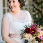 vintage plus size wedding gown with open neckline