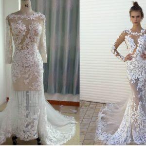 Berta Inspired Custom Long Sleeve Wedding Dress by Darius Cordell Bridal