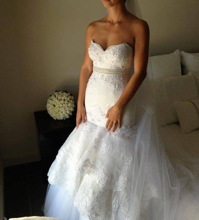 Fit n flare lace wedding dress from darius bridal for Fit n flare lace wedding dress