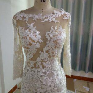 ST17809- Berta inspired long sleeve lace wedding dress from Darius Bridal