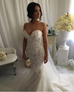 sweetheart strapless wedding gown with embroidery from Darius Bridal