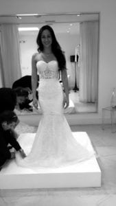 strapless beaded embroidery wedding dress from Darius Bridal