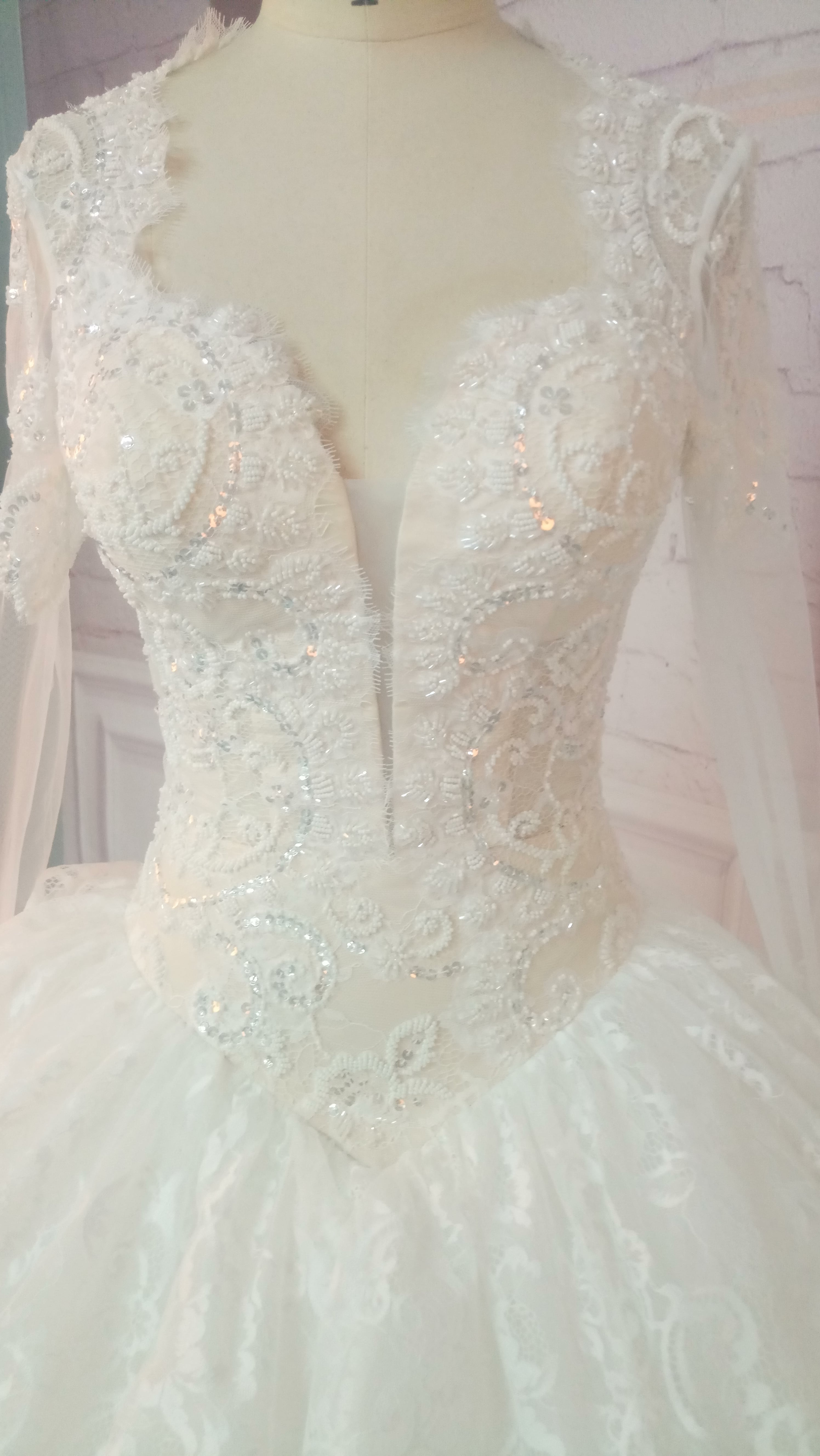 Long Sleeve Lace Ball Gown Wedding Dresses From Darius USA