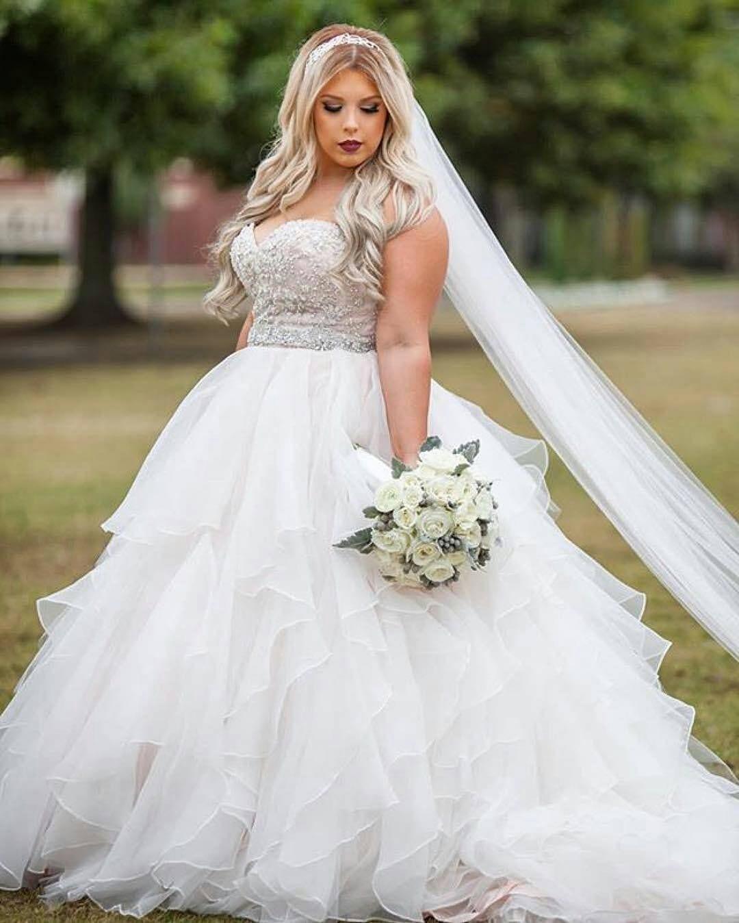 Strapless Empire Waist Plus Size Wedding Gowns